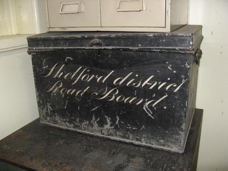 Former Leigh Shire Hall Shelford Road Board trunk