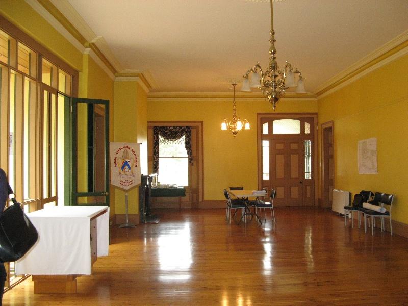 Mt Ridley homestead interior looking towards front door