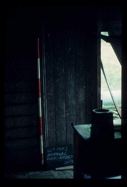 LAKE CONDAH - COMPLEX D (MURPHY'S HUT) FEATURE - INTERNAL DOOR KITCHEN