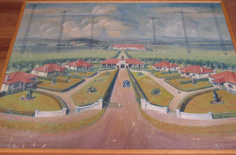 Fiskvillle painting of complex c1920s