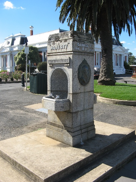 Ararat Civic Precinct King George V drinking fountain