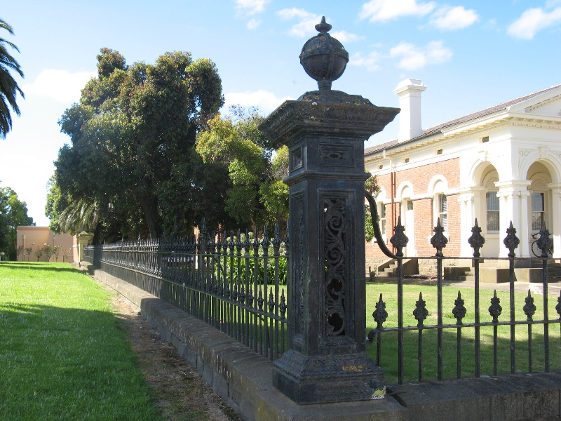 Ararat Civic Precinct iron fence around Shire Hall