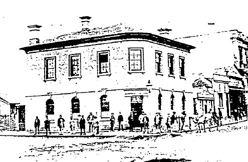 ANZ Bank02 - North west corner of Lydiard and Sturt Streets, showing the earlier bank building on the site - Ref: H26070 - La Trobe Library - Ballarat Conservation Study, 1978