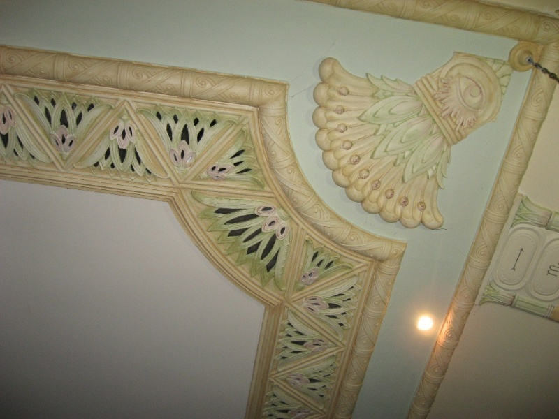 Lodge Room, detail of ceiling decoration 2011