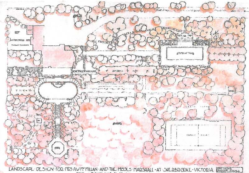 Original landscape plan 1932