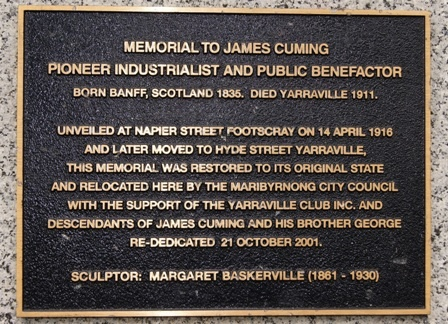 B6987 James Cuming Memorial