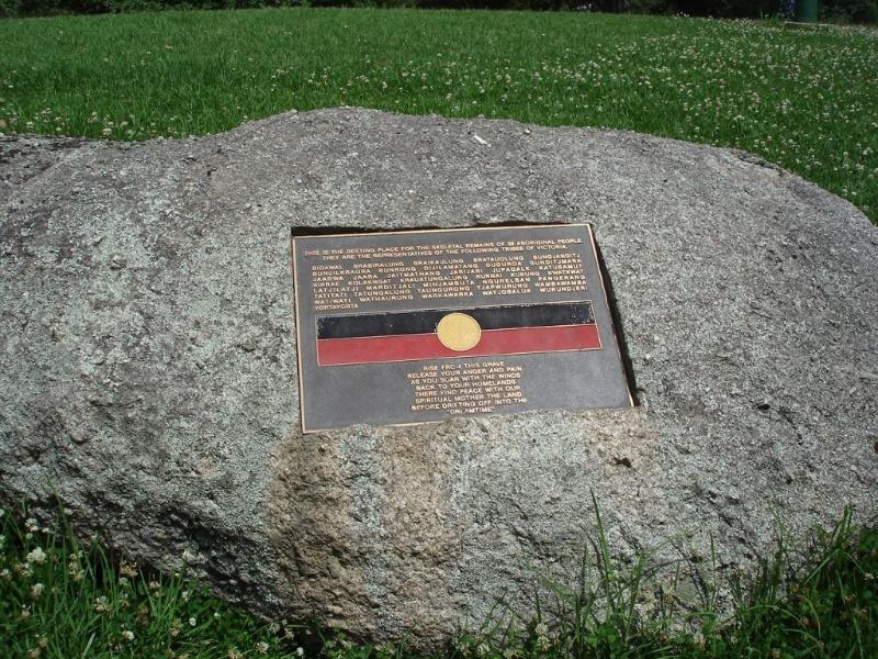 Domain Aboriginal Reburial stone.JPG