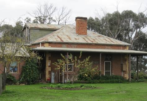 South-east elevation, note timber dormer at rear.