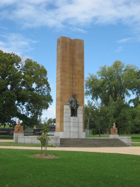 Domain King George V memorial.JPG