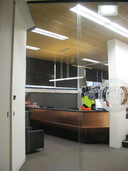 Plumbers & gasfitters reception area