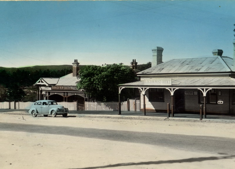 Post Office and Bank of NSW, c.1940s. Source: Linton Historical Society.