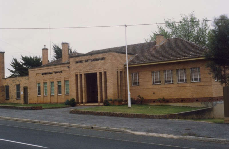 Shire of Grenville Offices, c.1989. Source: Linton Historical Society