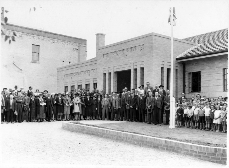 Shire of Grenville Offices, c.1939. Source: Linton Historical Society