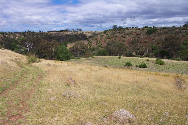 Track leading down the escarpment to the Werribee River