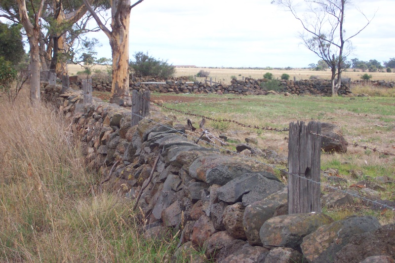 Mt Cottrell Road stock yards and ruins