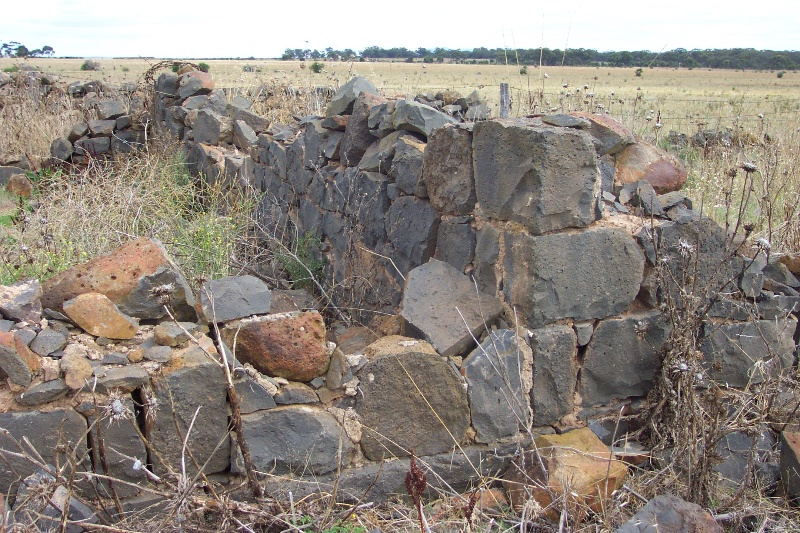 Ruins of the rubble bluestone house