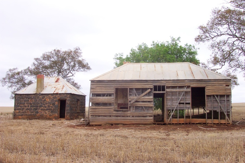 Buestone cottage and timber dwelling