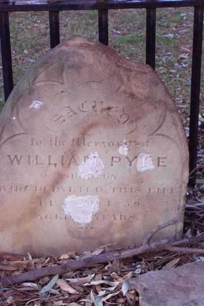 William Pyke's headstone