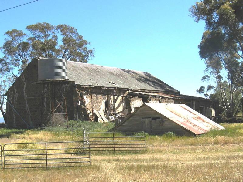Exford barn & underground tank