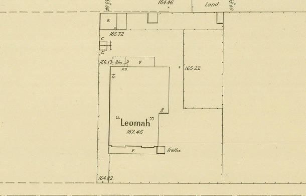 Part of a 1908 MMBW plan showing the residence at 39 Clarence Street.