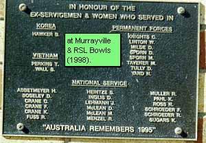 Murrayville Honour Roll