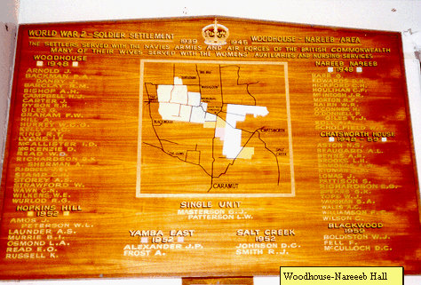 Woodhouse-Nareeb Honour Roll (First World War)