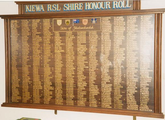 Kiewa RSL Honour Roll (Yackandandah)