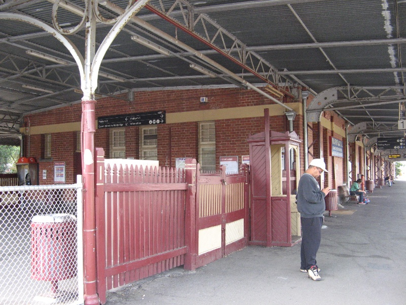 Warragul Railway Station west end of station