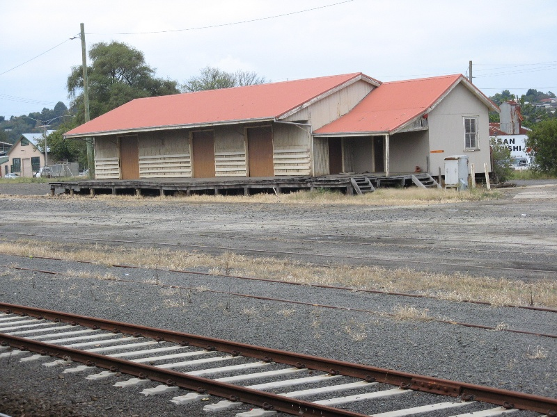 Warragul Railway Station goods shed from station