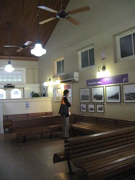 Warragul Railway Station interior new waiting room west end-