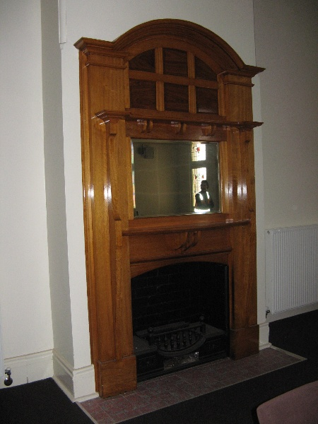 Warragul Railway Station fireplace in former dining room