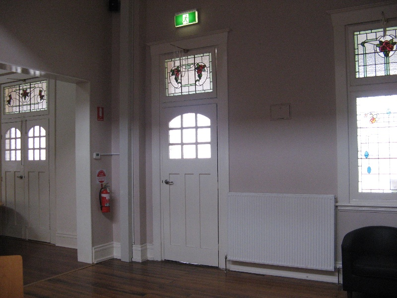 Warragul Railway Station leadllights refreshment room