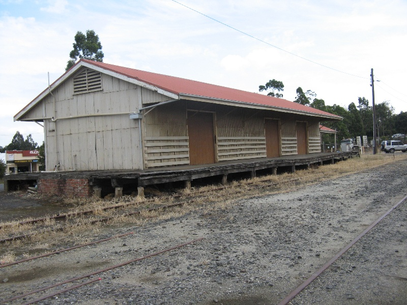 Warragul railway station goods shed from east