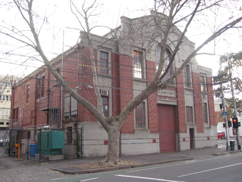 Carlton tram substation front and west side