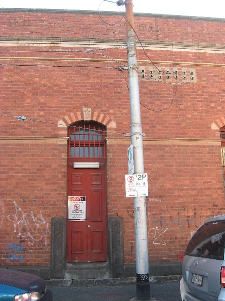 Brunswick cable tram engine house substation entrance