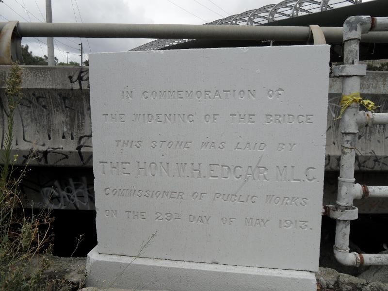 Flemington Bridge foundation stone