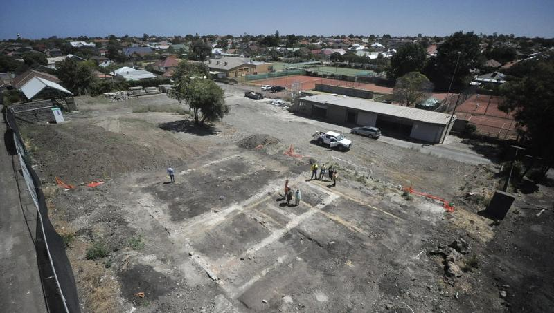 aerial image of site visit 22/1/14
