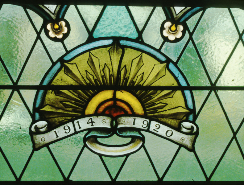 Ballarat Barkly St Uniting Church, detail of AIF Badge, Fisher & Co. 1920