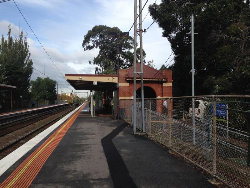 Newmarket Railway Station Down side building