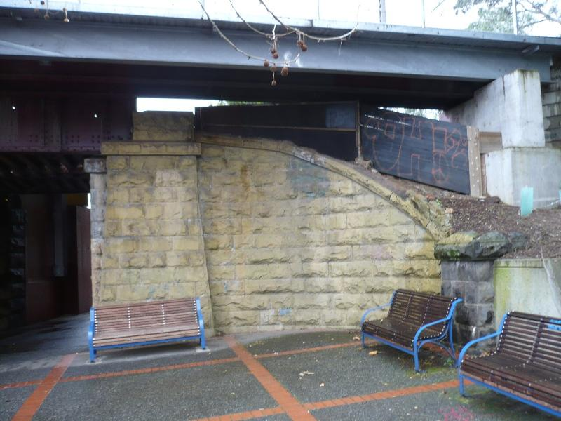 Racecourse Road Railway Bridge abutment east side