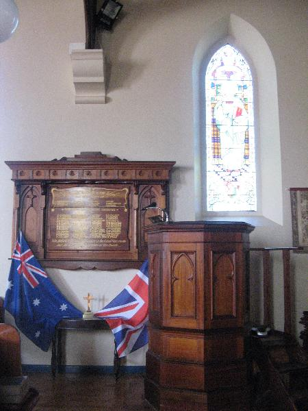 Pulpit and honour board