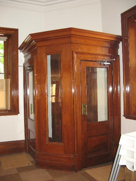 Former Bank of NSW timber entry vestibule