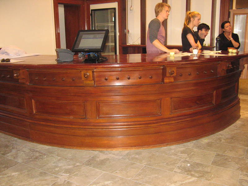 Former Bank of NSW bank counter