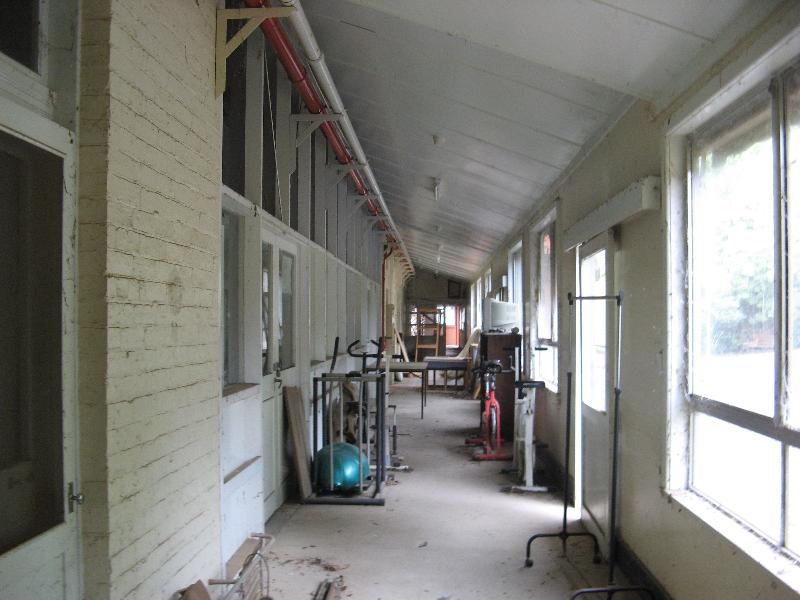 Recreation wing corridor