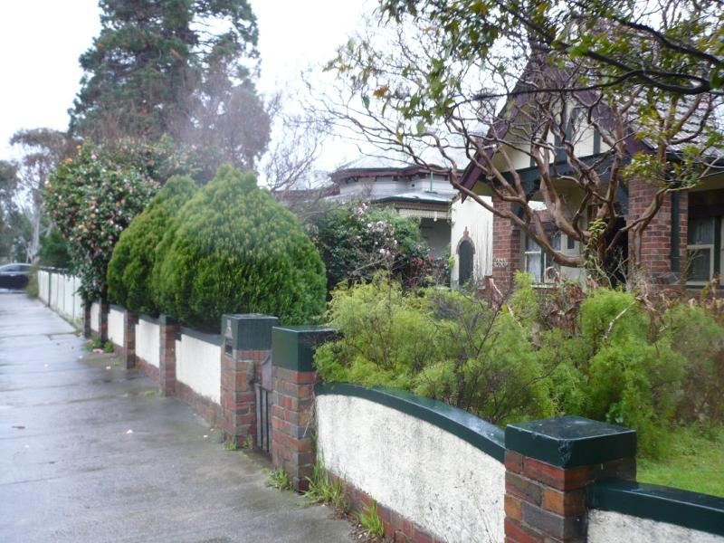 House and front fence 258 Ascot Vale Road