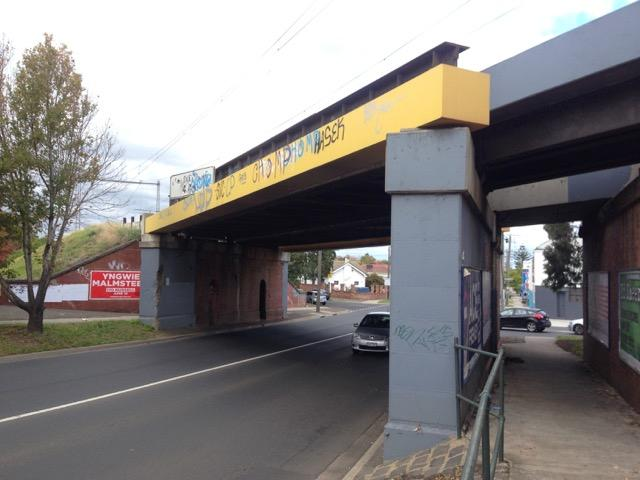 Rail over road bridge Ascot Vale Road