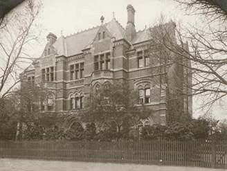 JCH 1891 Main Wing facing Royal Parade in 1890s