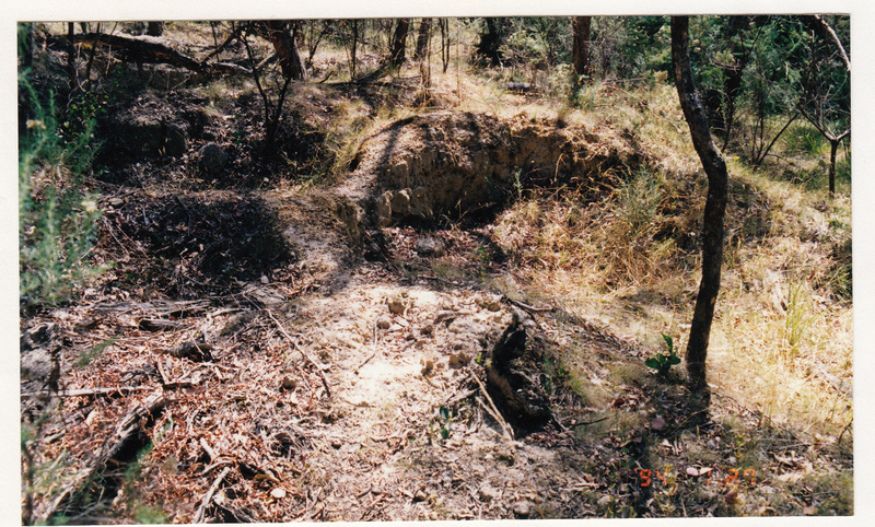 Alluvial Gold Mining Remains end Blue House Rd Colour 1 - Shire of Eltham Heritage Study 1992