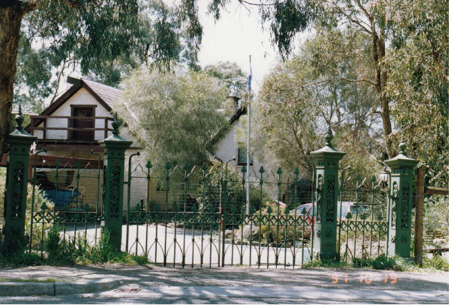 Adobe Residence and Iron Gates 25 Diamond St Colour 1 - Shire of Eltham Heritage Study 1992