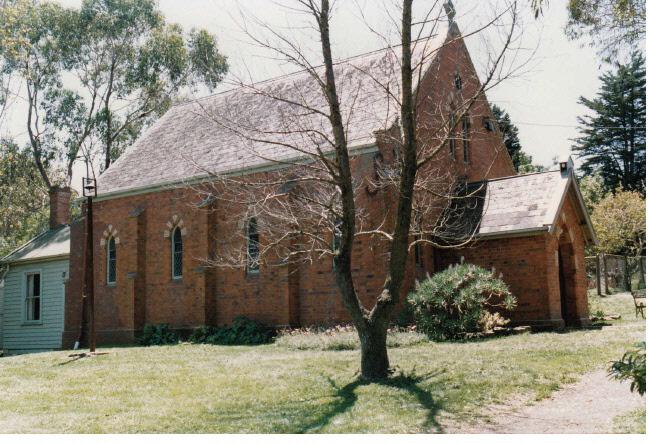 Presbyterian Church Eltham Yarra Glen Rd Colour 2 - Shire of Eltham Heritage Study 1992